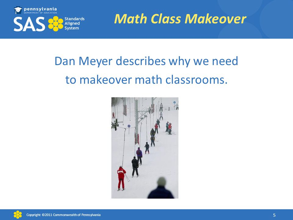 Dan Meyer describes why we need to makeover math classrooms.