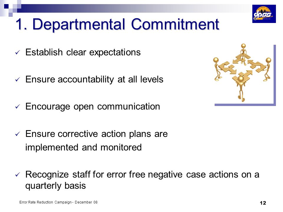 1. Departmental Commitment