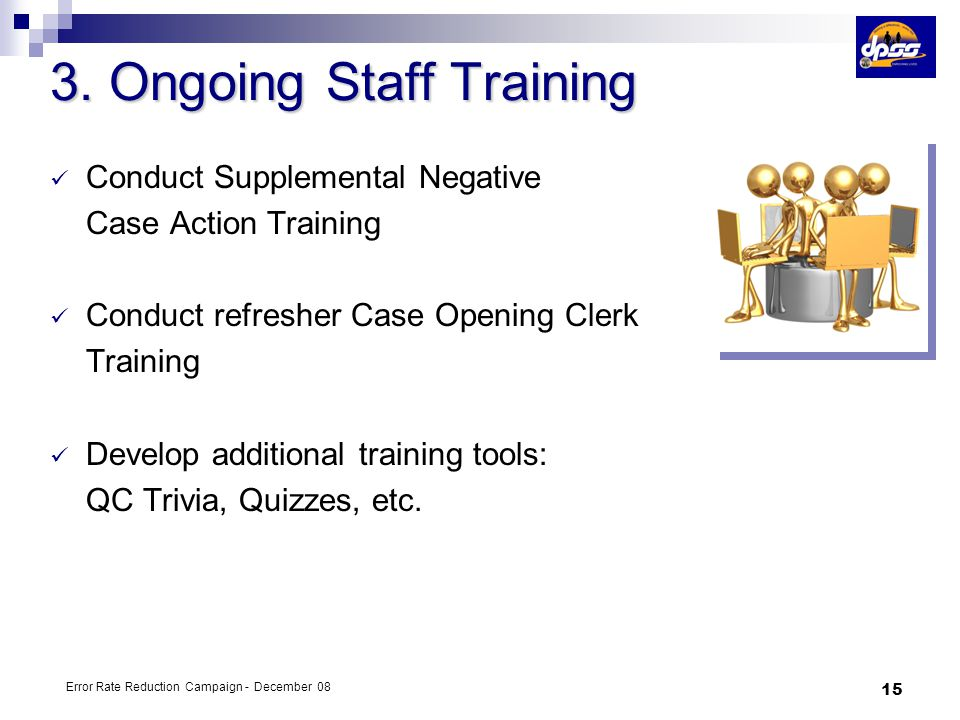 3. Ongoing Staff Training