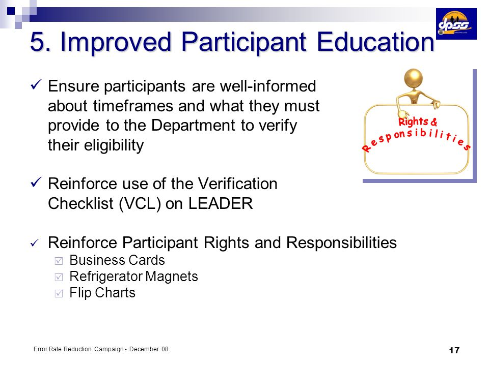 5. Improved Participant Education