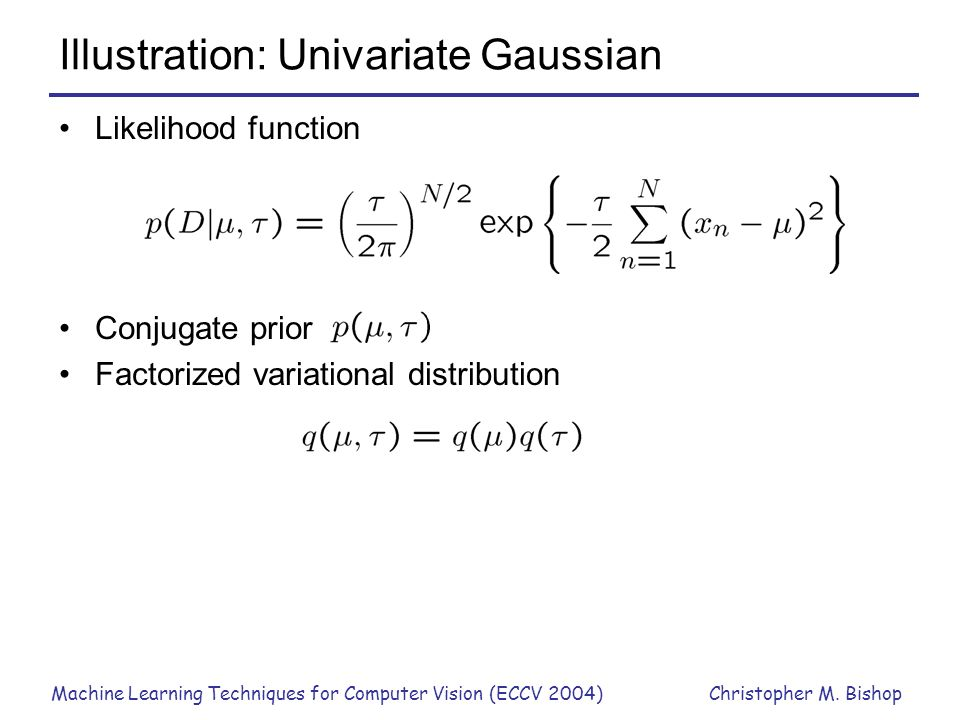 Illustration: Univariate Gaussian