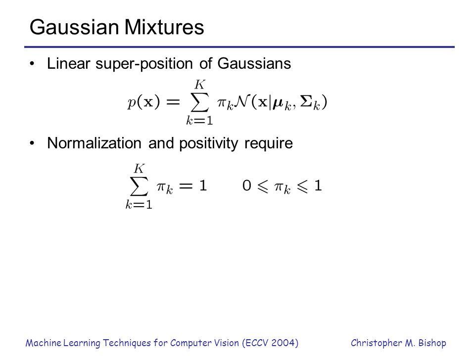 Gaussian Mixtures Linear super-position of Gaussians