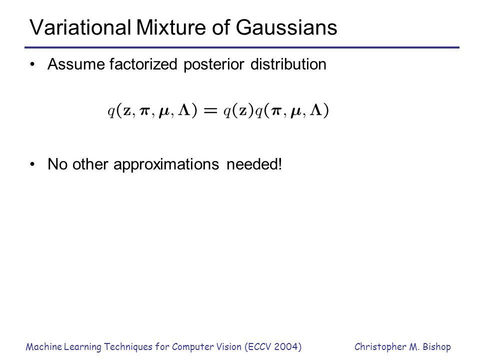 Variational Mixture of Gaussians
