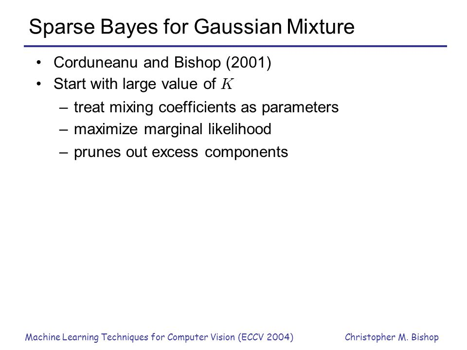 Sparse Bayes for Gaussian Mixture