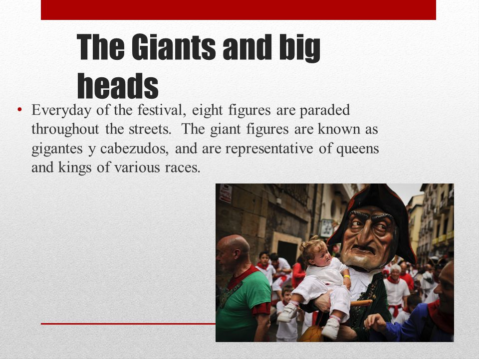 The Giants and big heads