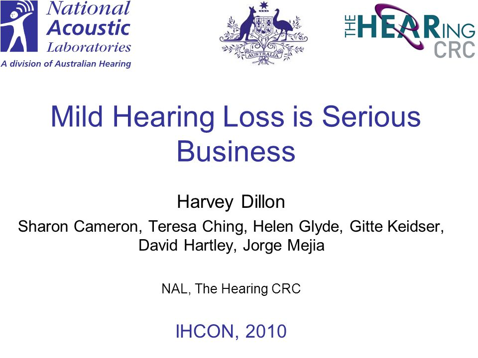 Mild Hearing Loss is Serious Business