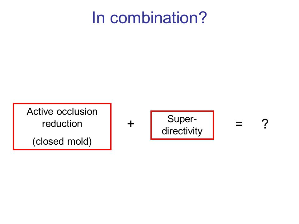 Active occlusion reduction