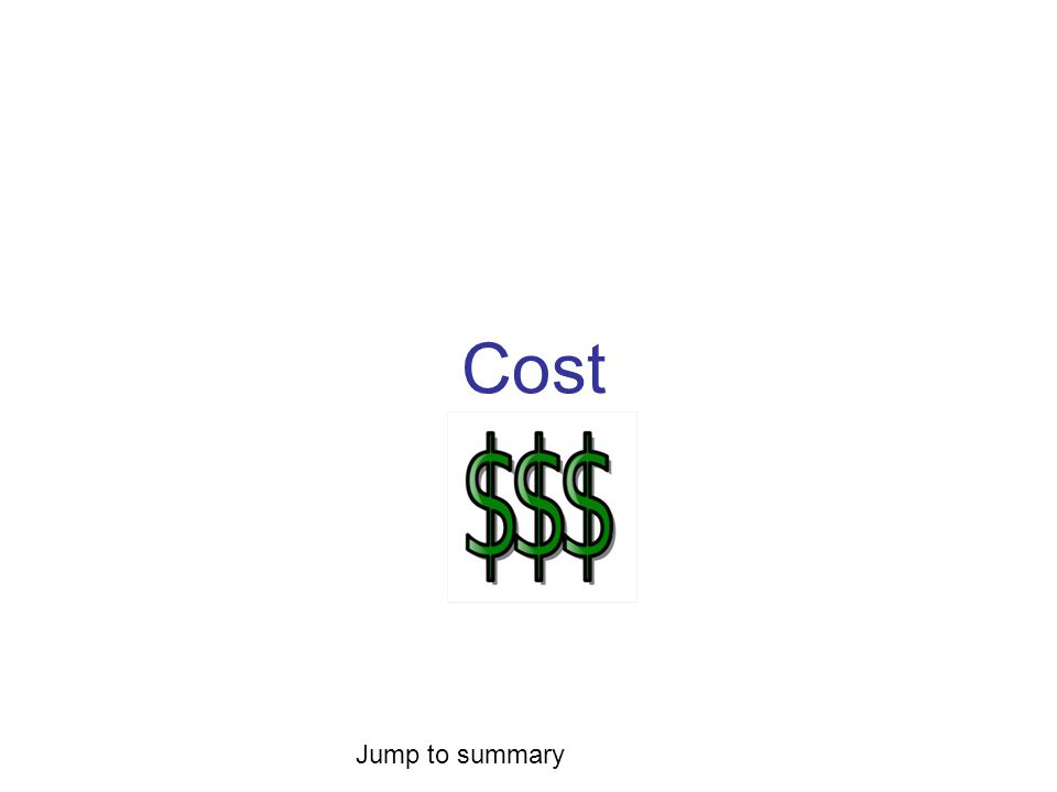 Cost Jump to summary