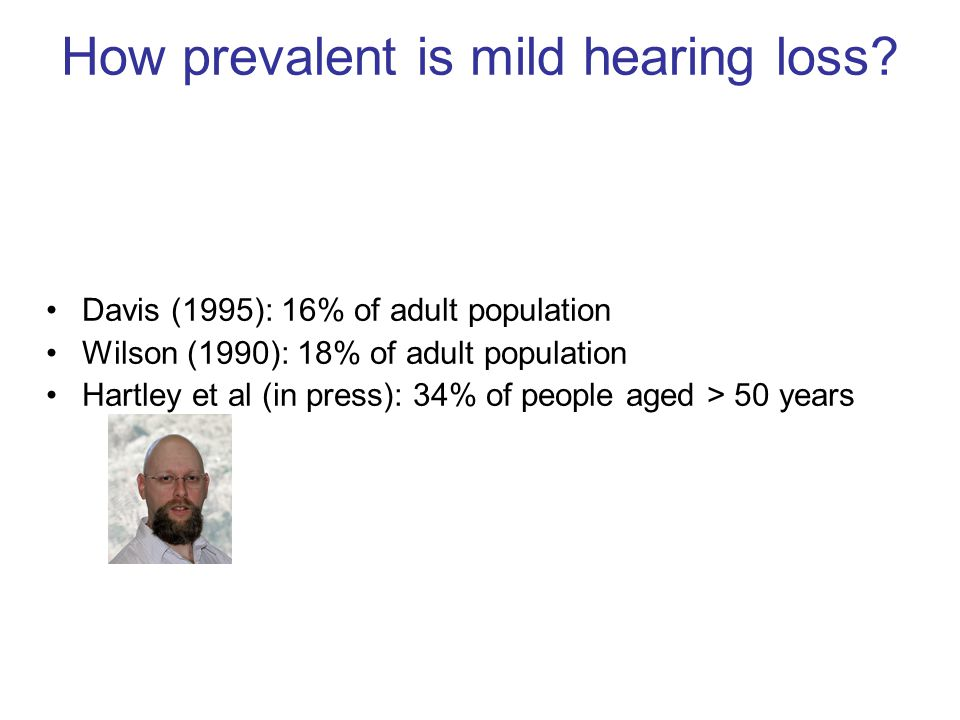 How prevalent is mild hearing loss