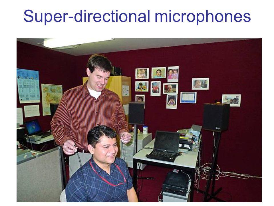 Super-directional microphones