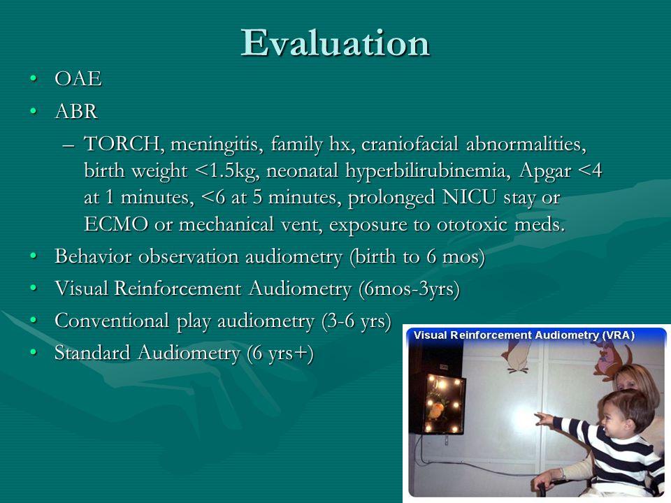 Evaluation OAE. ABR.