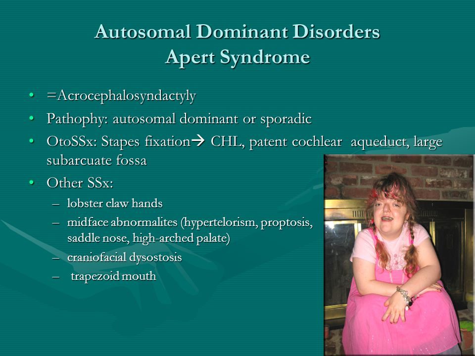 Autosomal Dominant Disorders Apert Syndrome
