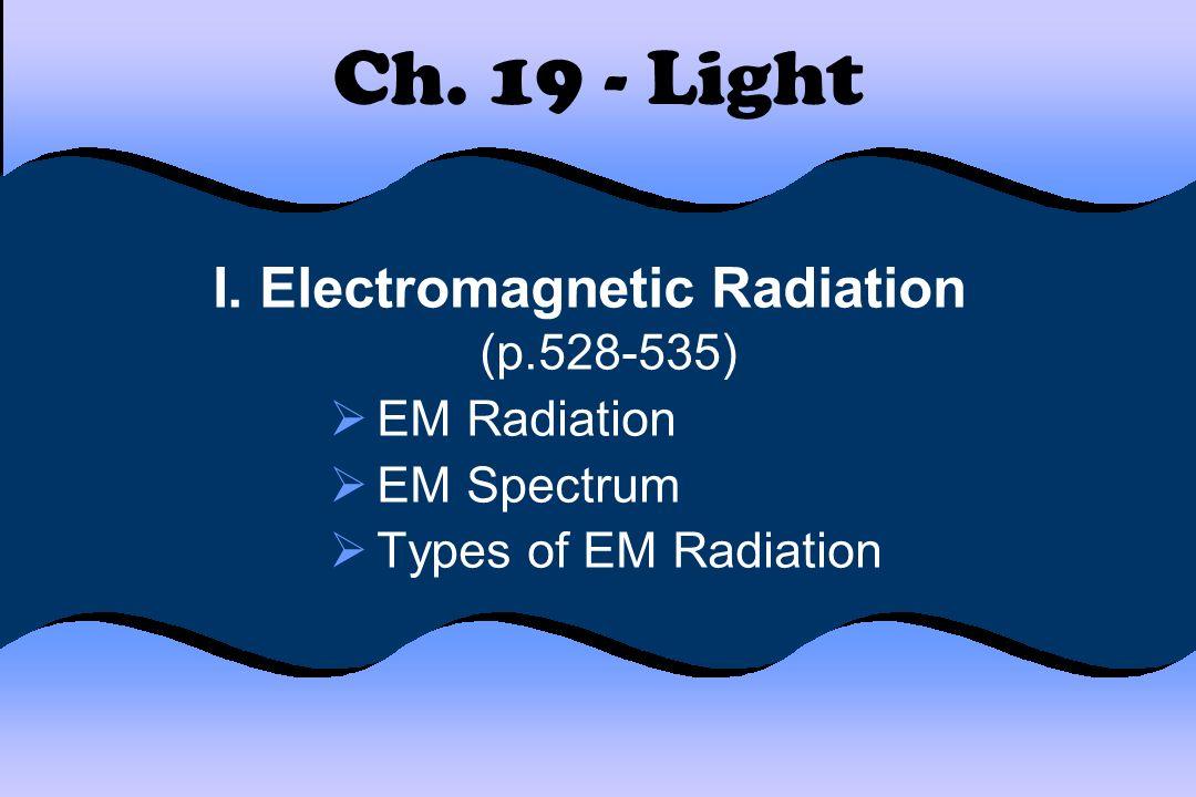 I. Electromagnetic Radiation (p.528-535)