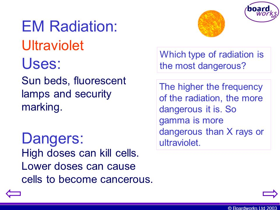 EM Radiation: Uses: Dangers: