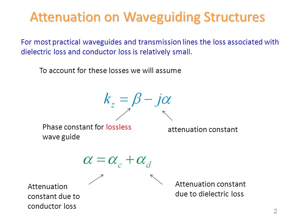 Attenuation on Waveguiding Structures
