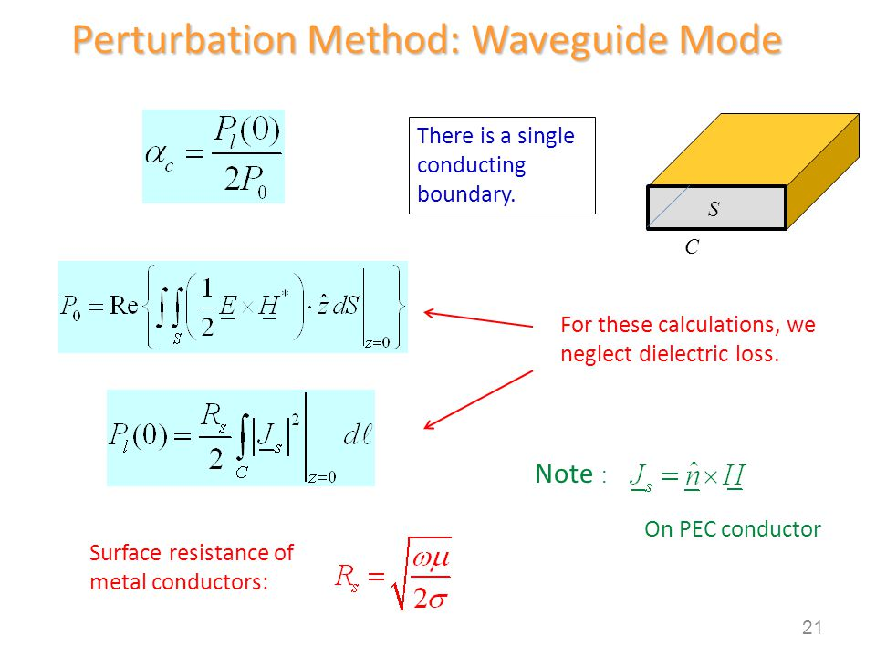 Perturbation Method: Waveguide Mode