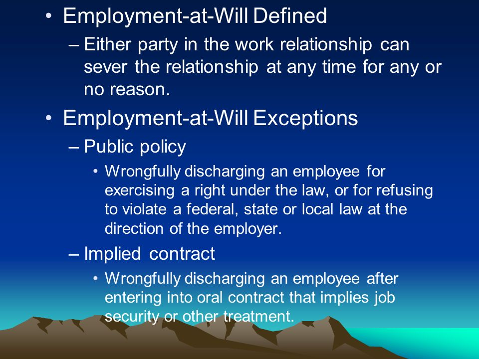 Employment-at-Will Defined