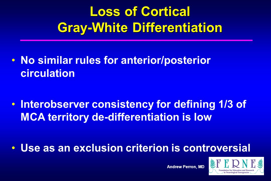 Loss of Cortical Gray-White Differentiation