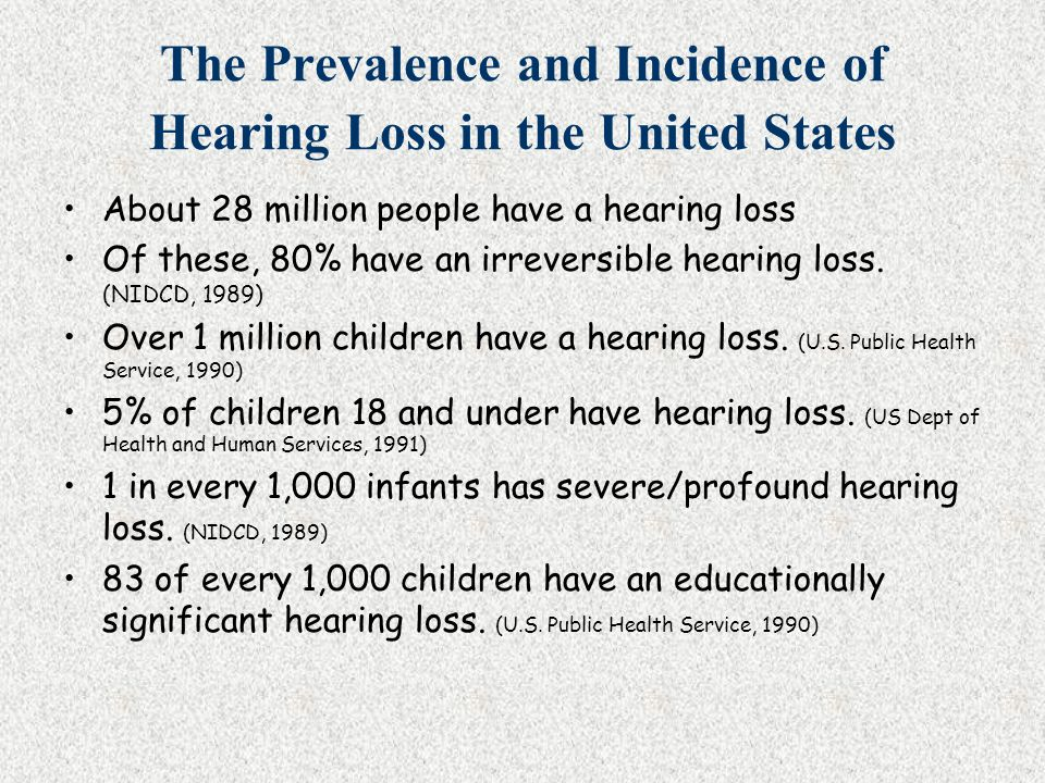 The Prevalence and Incidence of Hearing Loss in the United States