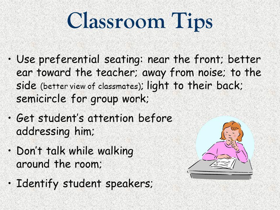 Classroom Tips