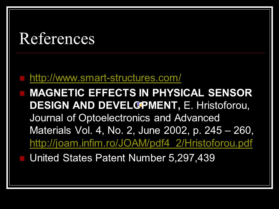 References http://www.smart-structures.com/