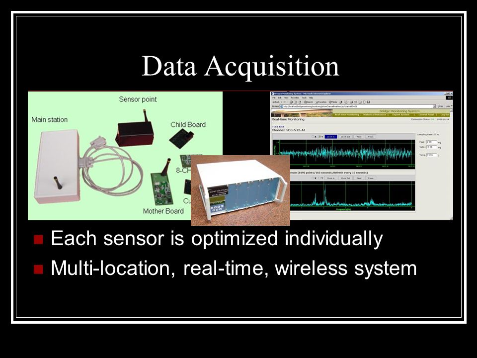 Data Acquisition Each sensor is optimized individually