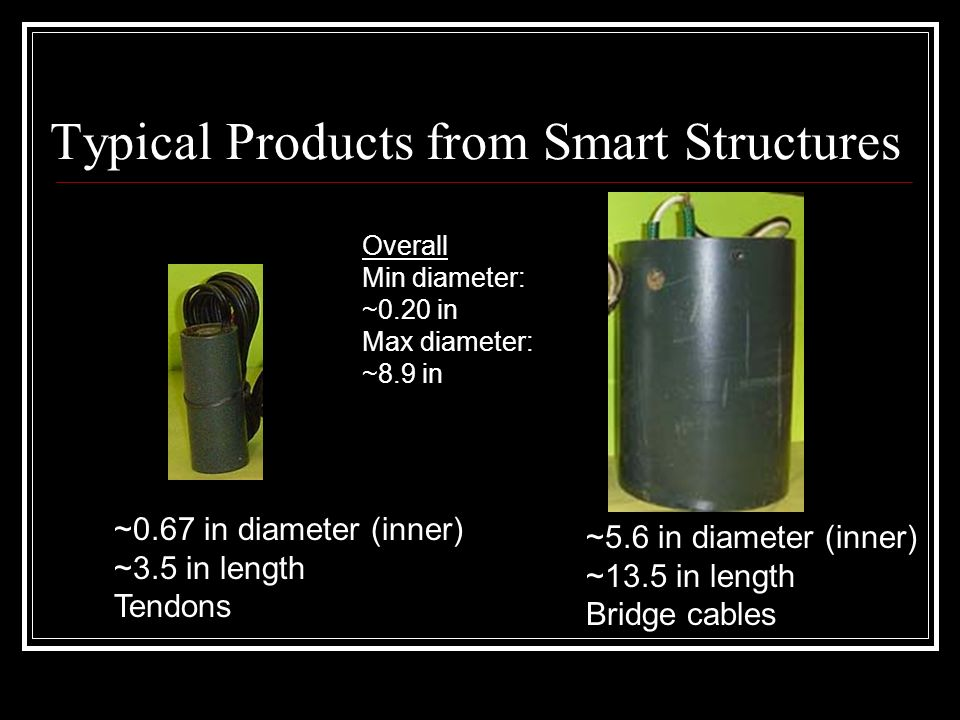Typical Products from Smart Structures