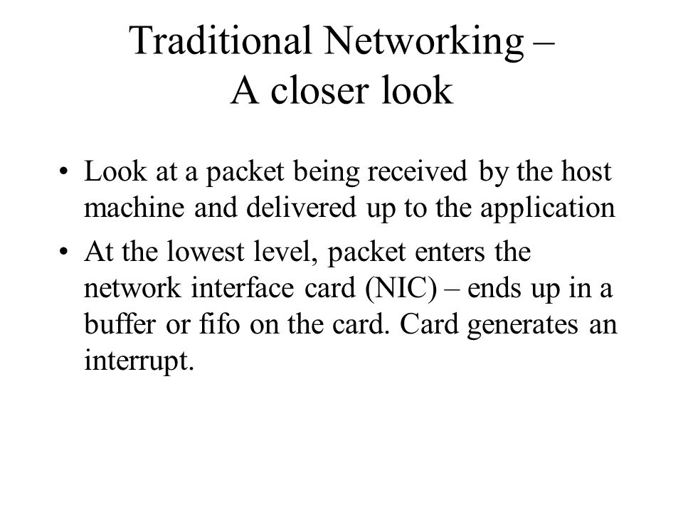 Traditional Networking – A closer look
