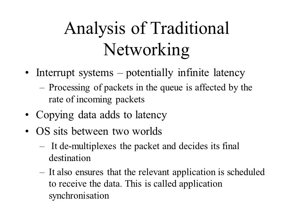 Analysis of Traditional Networking