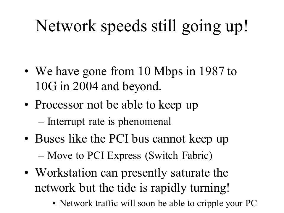 Network speeds still going up!