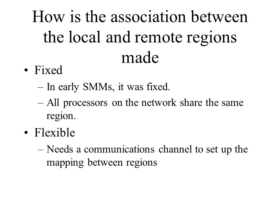 How is the association between the local and remote regions made