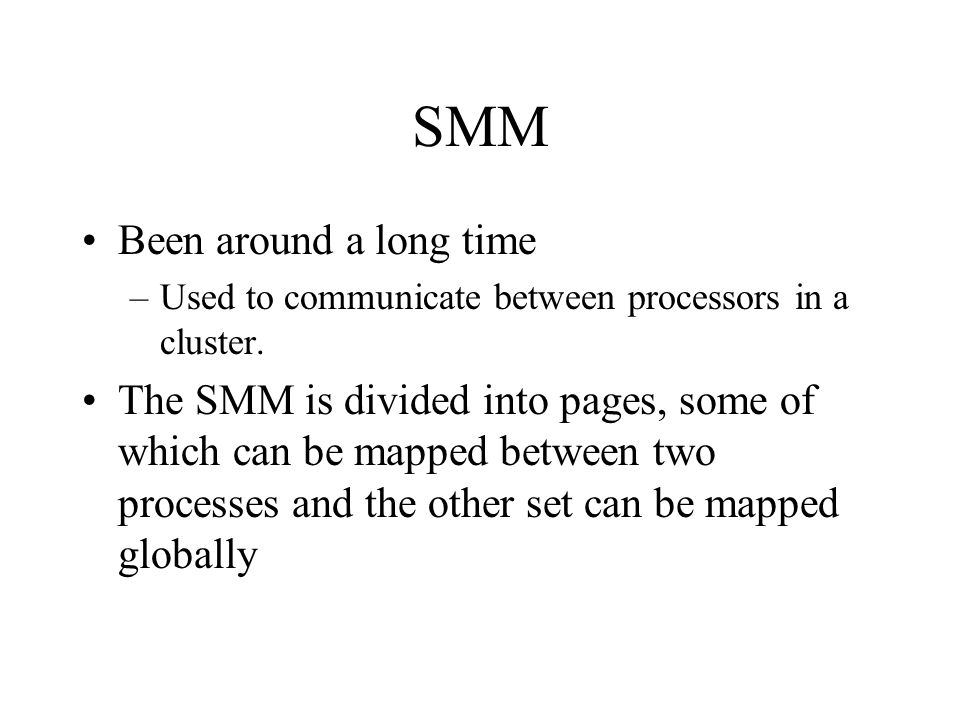 SMM Been around a long time