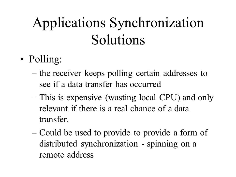 Applications Synchronization Solutions