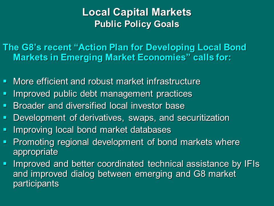 Local Capital Markets Public Policy Goals
