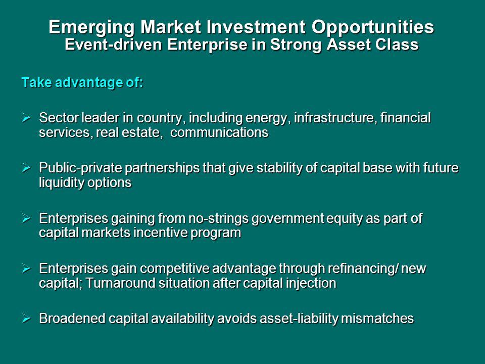 Emerging Market Investment Opportunities Event-driven Enterprise in Strong Asset Class