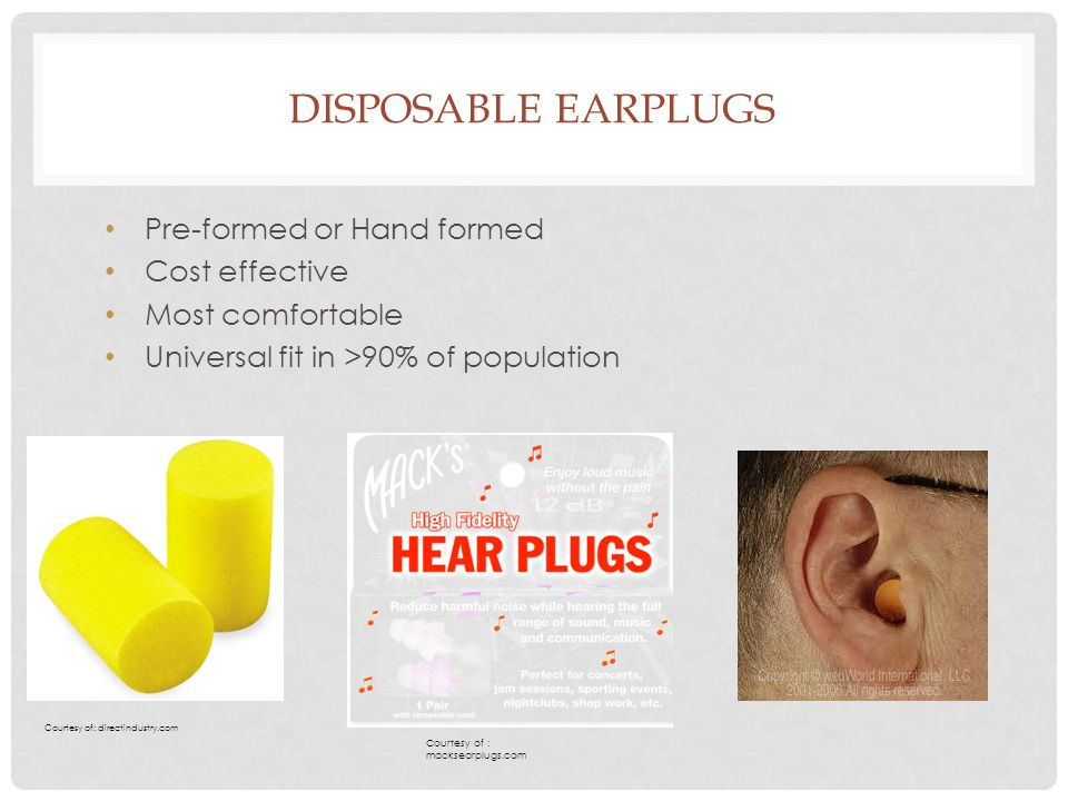 Disposable earplugs Pre-formed or Hand formed Cost effective