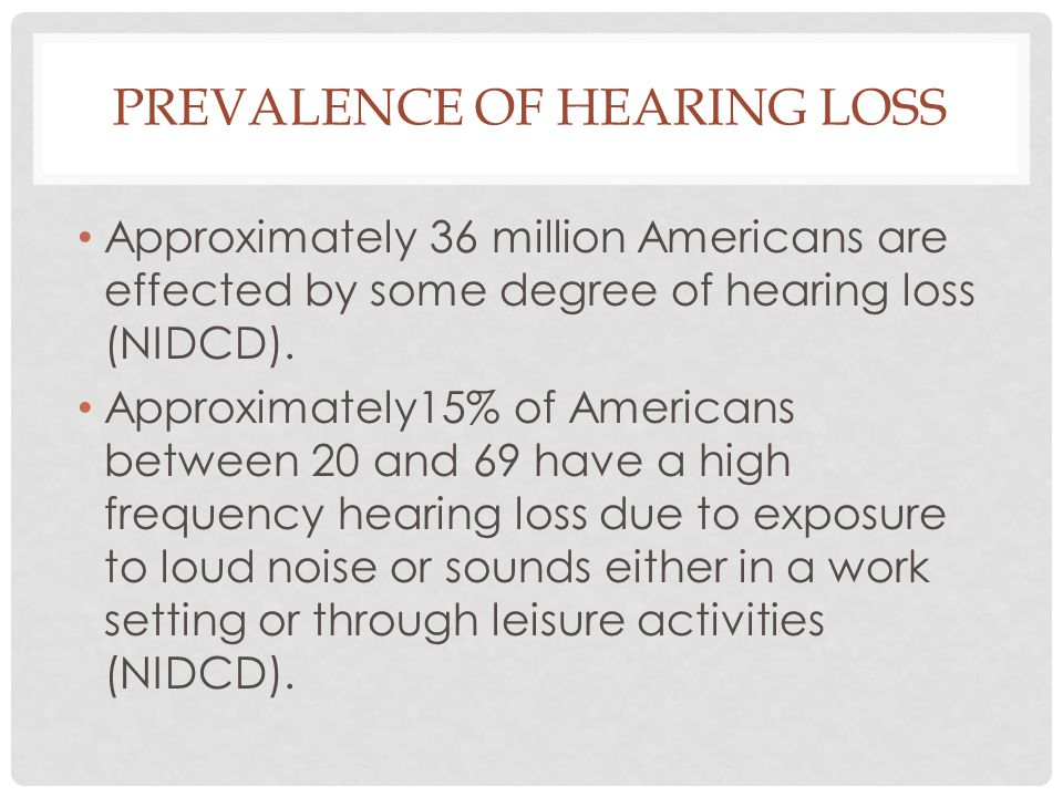 Prevalence of Hearing Loss