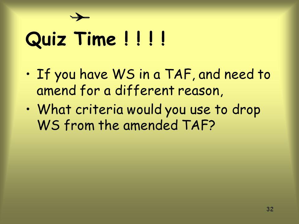 Quiz Time .