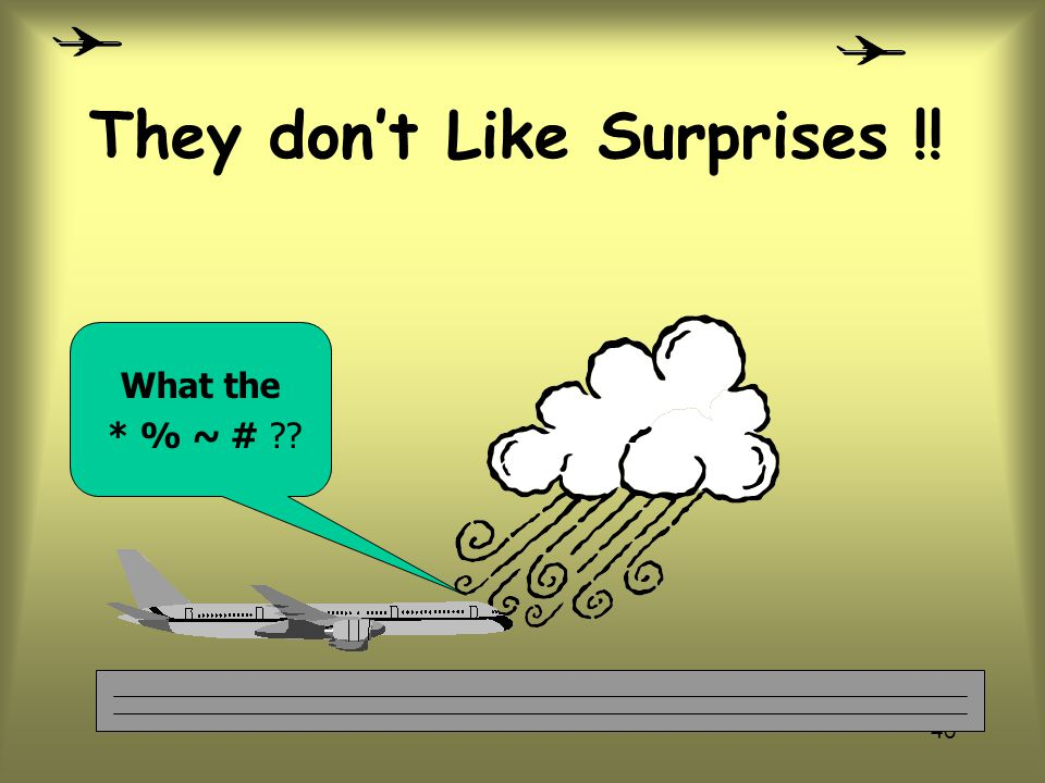 They don't Like Surprises !!