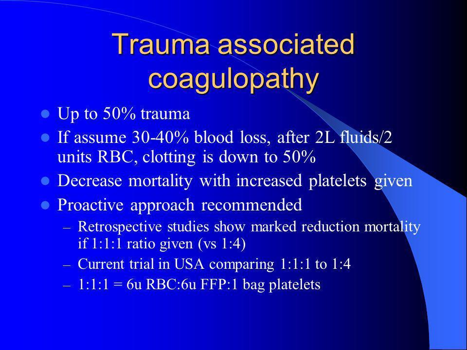 Trauma associated coagulopathy