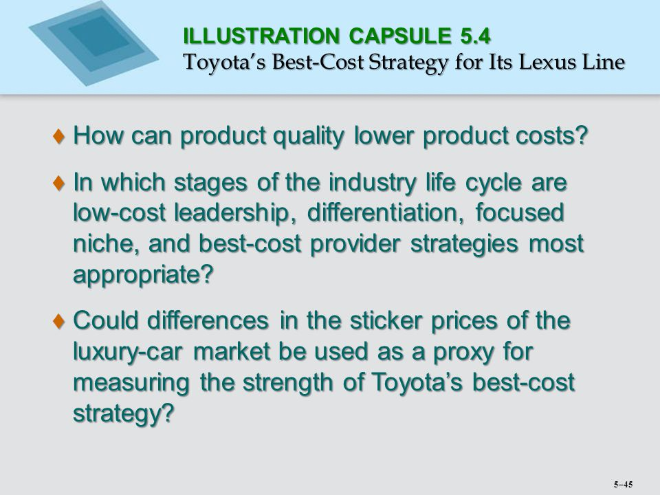 How can product quality lower product costs