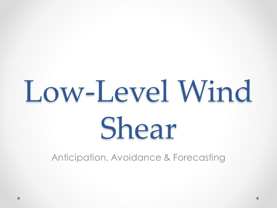 Anticipation, Avoidance & Forecasting
