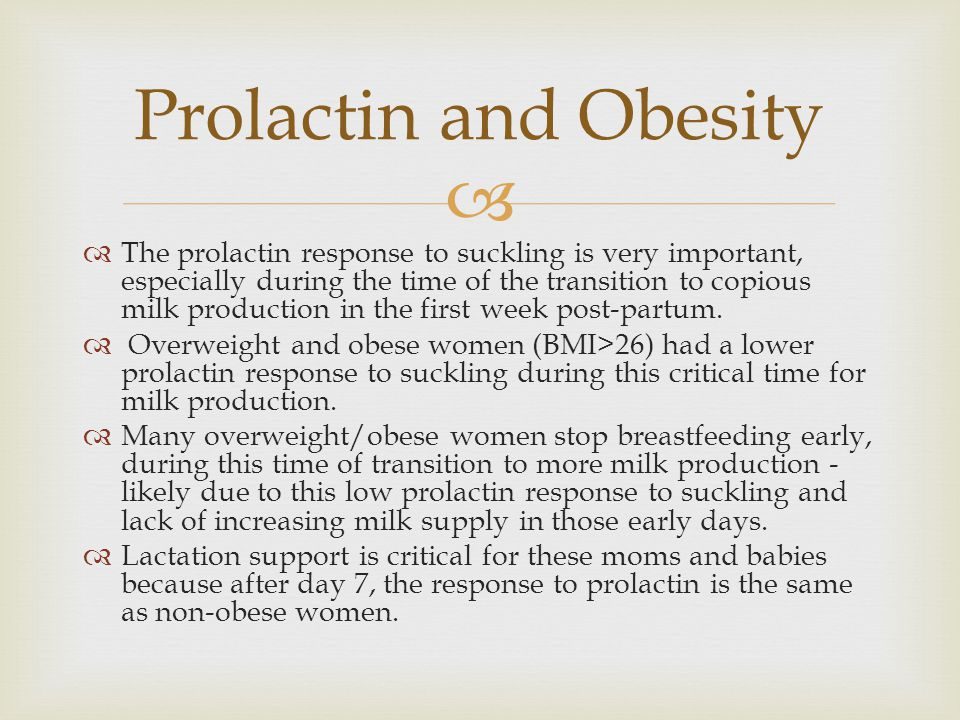 Prolactin and Obesity
