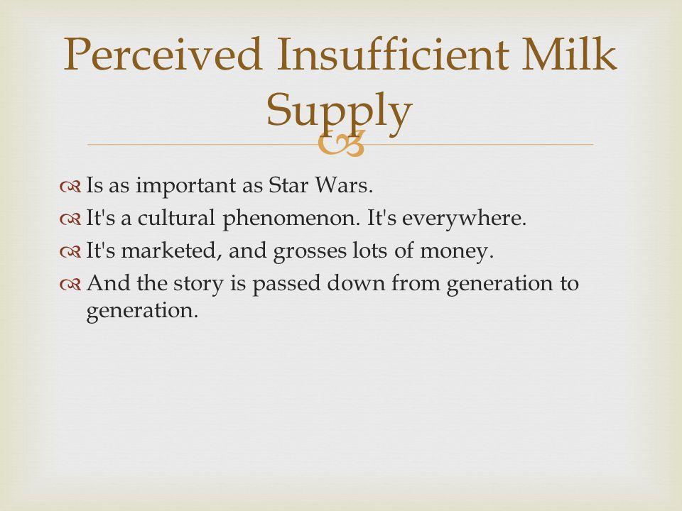 Perceived Insufficient Milk Supply