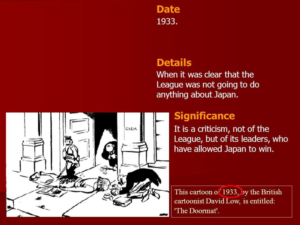 Date Details Significance 1933.