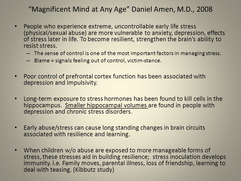 Magnificent Mind at Any Age Daniel Amen, M.D., 2008