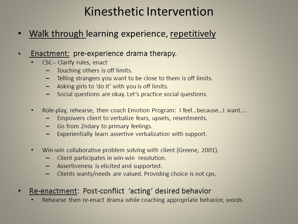 Kinesthetic Intervention