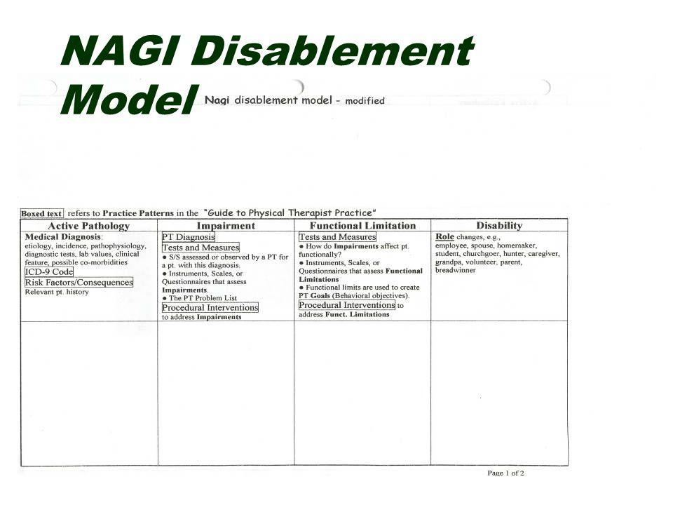 NAGI Disablement Model