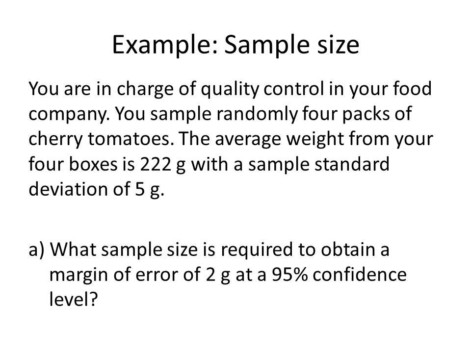 Example: Sample size