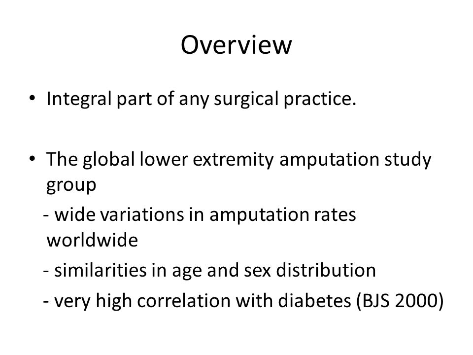 Overview Integral part of any surgical practice.